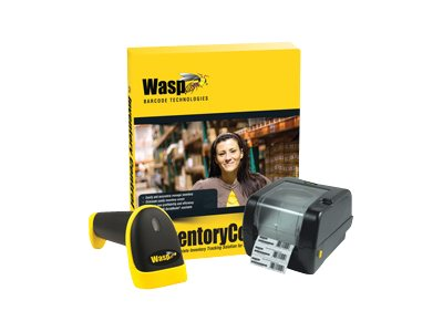 Wasp Inventory Control Standard w  WWS550i Cordless Barcode Scanner & WPL305 Barcode Printer