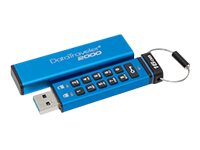Kingston 16GB DataTraveler 2000 USB 3.0 Flash Drive, Blue, DT2000/16GB, 31270548, Flash Drives