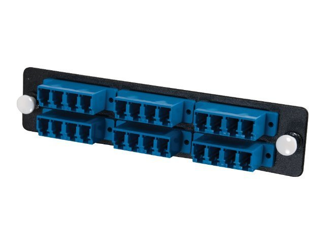 C2G Q-Series 24-Strand, LC Quad, PB Insert, MM SM, Blue LC Adapter Panel, 31119, 11208683, Premise Wiring Equipment