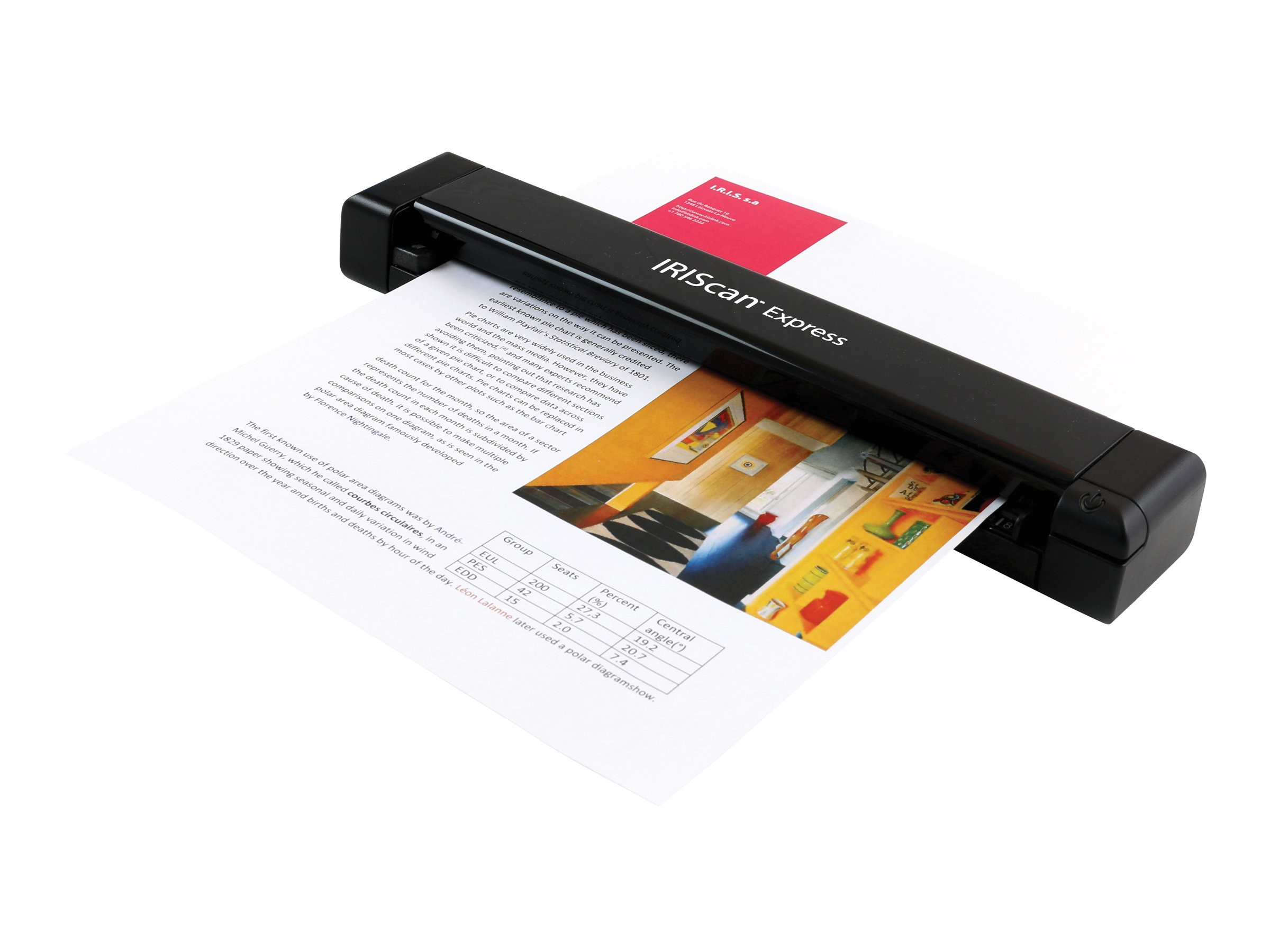 IRIS Iriscan Express 4 Portable Sheetfed USB Scanner