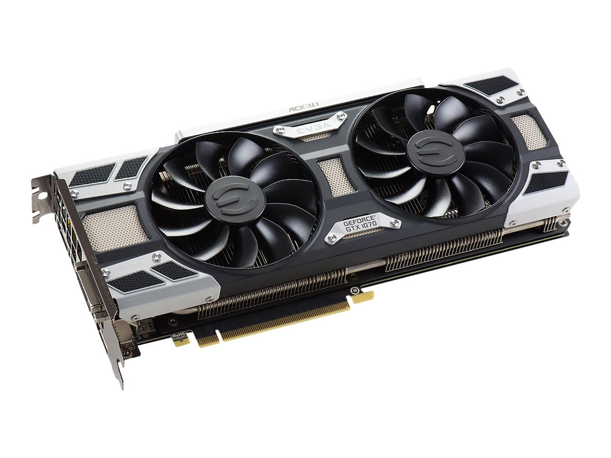 eVGA GeForce GTX 1070 PCIe 3.0 x16 Graphics Card, 8GB GDDR5, 08G-P4-6171-KR