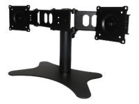 DoubleSight Dual-Monitor Flex Stand for Flat Panels up to 19 and 22 lbs., TAA, DS-219STB, 10767459, Stands & Mounts - AV