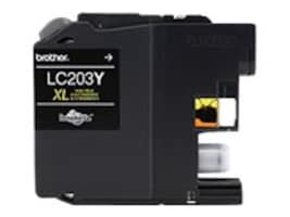 Brother Yellow LC203Y High Yield Ink Cartridge, LC203Y, 17539539, Ink Cartridges & Ink Refill Kits
