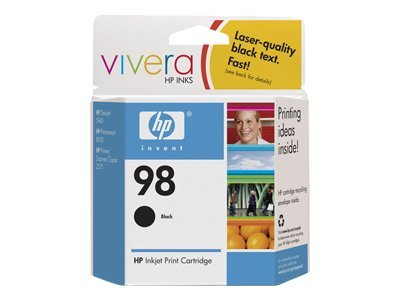 HP 98 (C9364WN) Black Original Ink Cartridge, C9364WN#140, 7689411, Ink Cartridges & Ink Refill Kits