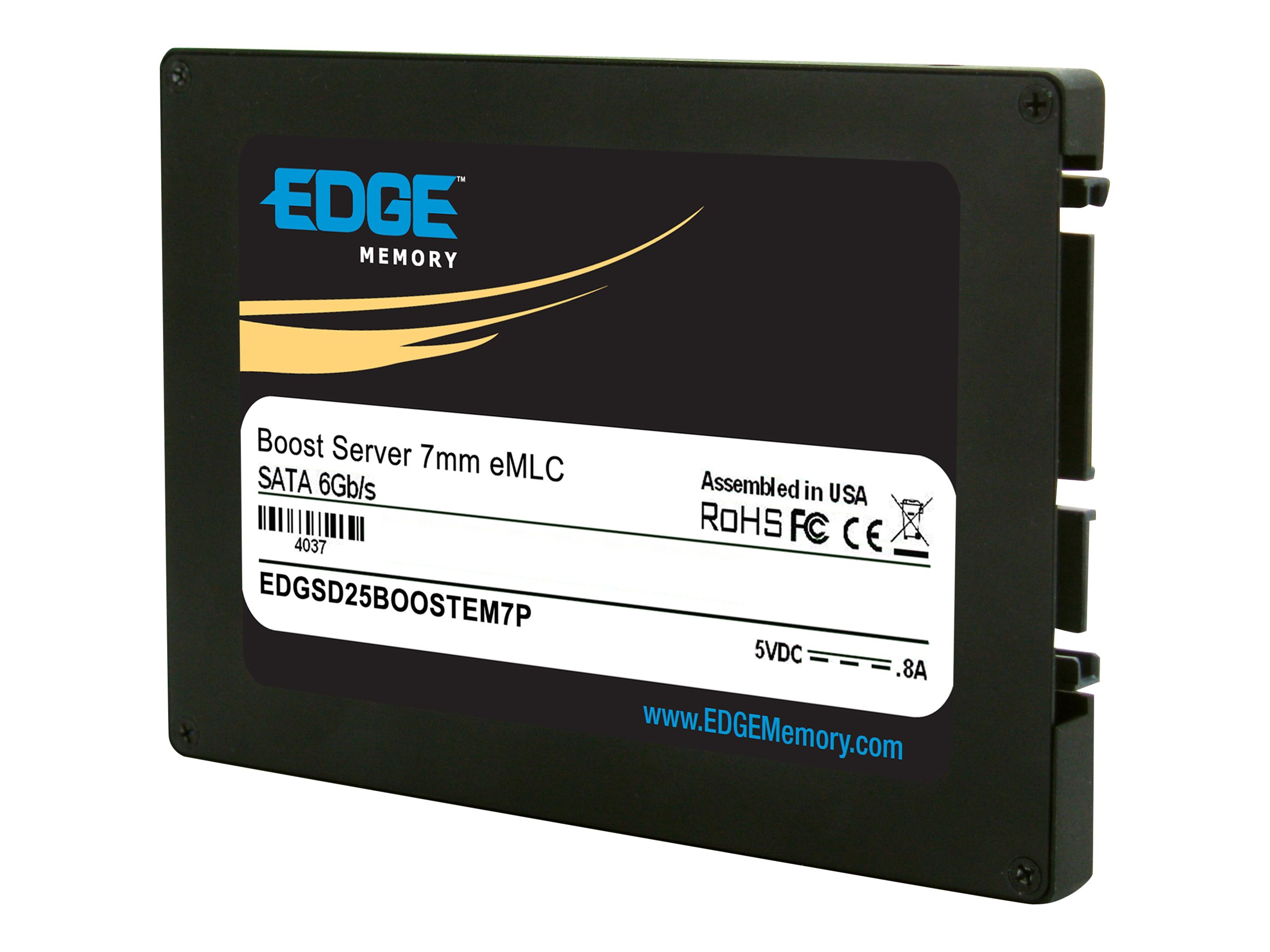 Edge 400GB Boost Server SATA 6Gb s eMLC 2.5 7mm Internal Solid State Drive, PE241360