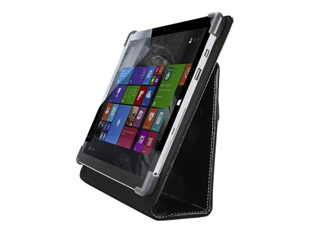 Cyber Acoustics Surface 3 Leather Case with Corner Bumper Protection, Obsidian Black