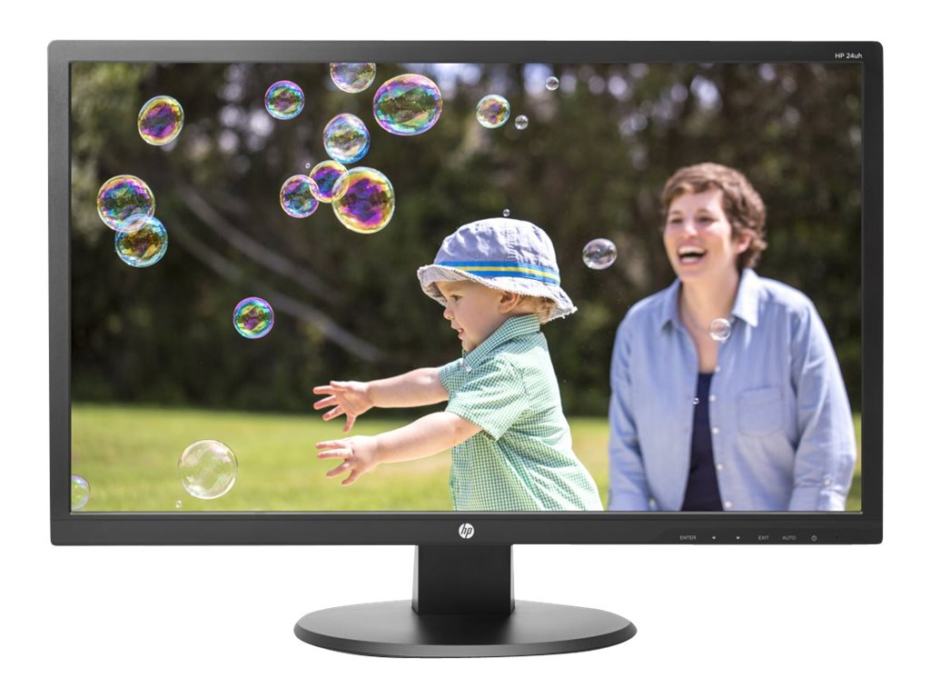 HP 24 24uh Full HD LED-LCD Monitor, Black, K5A38AA#ABA, 18366414, Monitors - LED-LCD