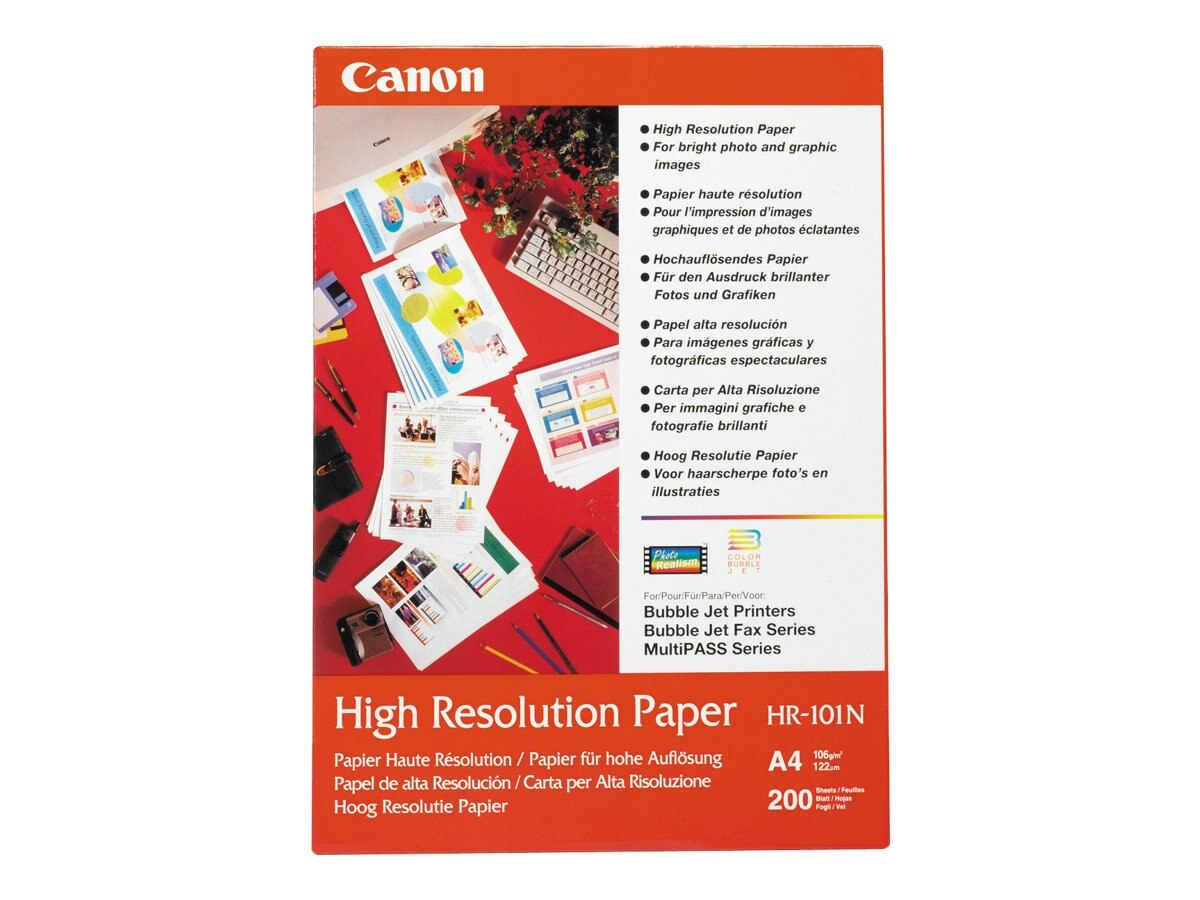 Canon HR-101 High Resolution Paper 100 Letter Sheets, 1033A011