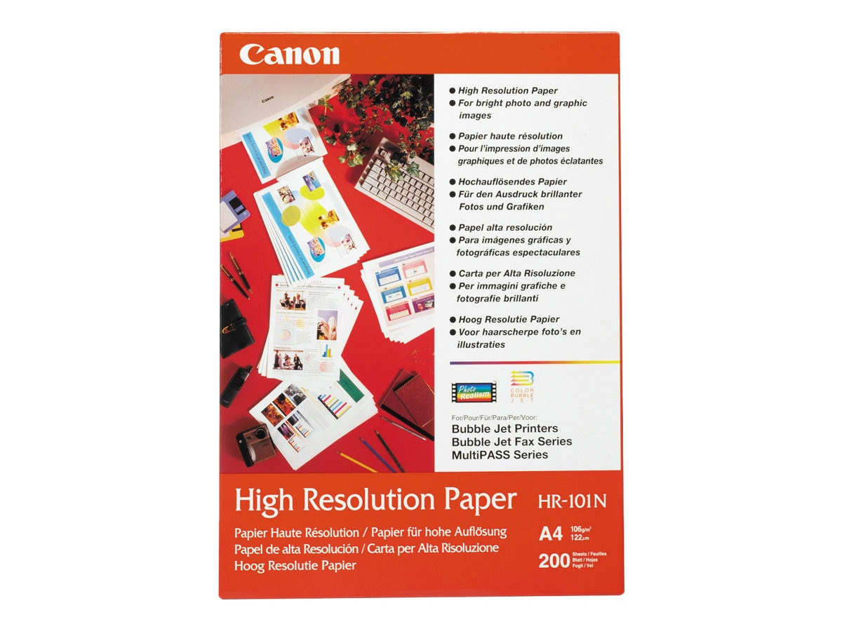 Canon HR-101 High Resolution Paper 100 Letter Sheets