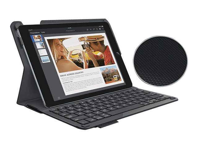 Logitech Protective Case w  Integrated Keyboard for iPad Air 2, Black, 920-006576, 31175541, Keyboards & Keypads