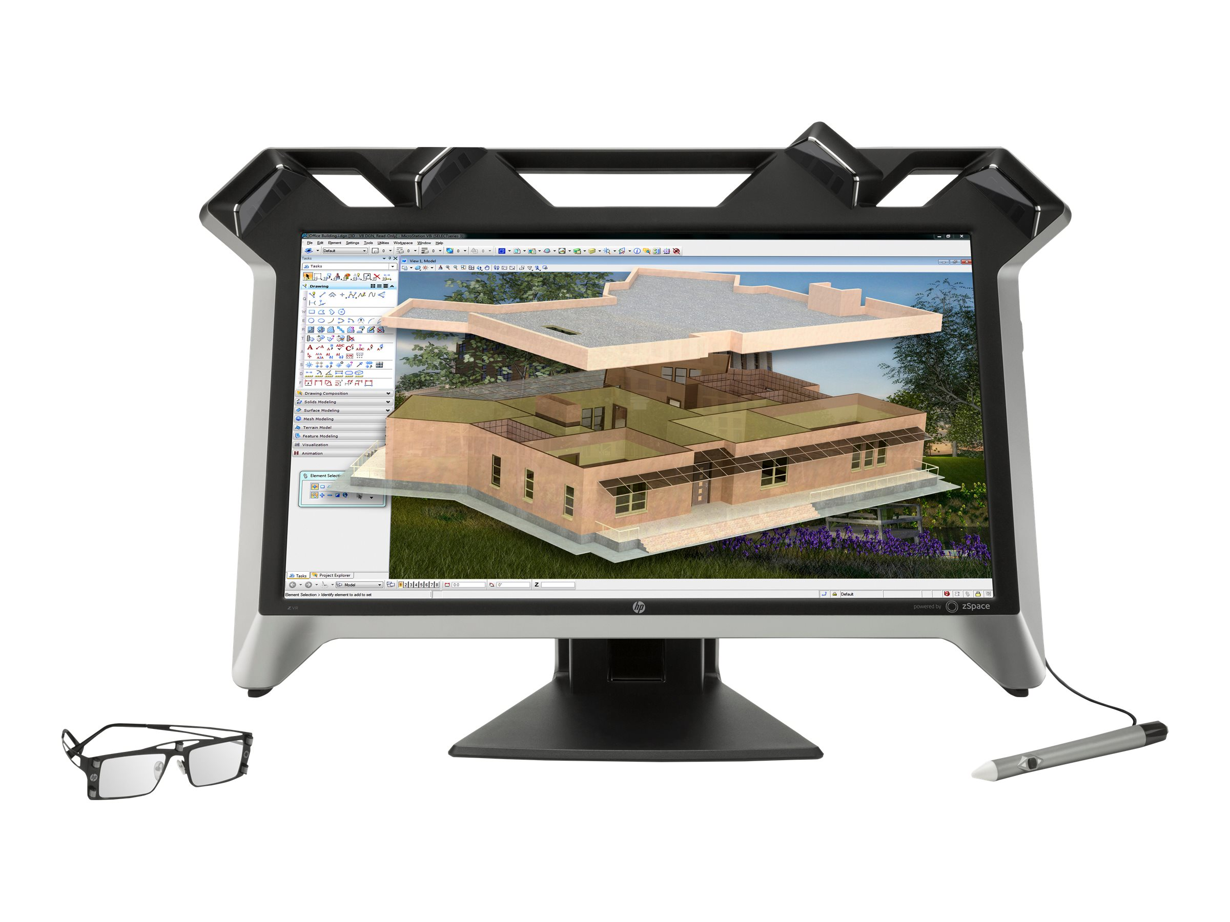 HP 23.6 Zvr Full HD LED-LCD Virtual Reality 3D Display, Black, K5H59A8#ABA, 30715752, Monitors - LED-LCD