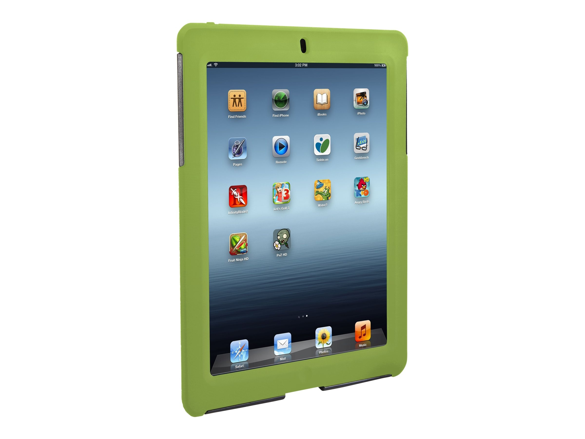 Targus Rugged Safeport Case for iPad 3 4, Green, THD04505US