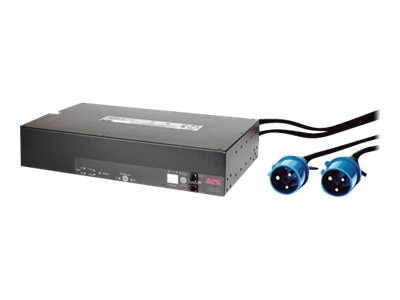 APC Rack ATS, 230V, 32A, 2U, IEC309-32A Input, 8ft cord, (16) C13, (2) C19 Outlets, AP7724, 12293429, Power Distribution Units