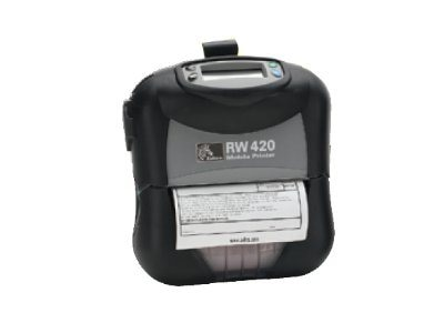 Zebra RW420 4 LCD Mobile Printer, R4D-0U0A000N-00, 9956068, Printers - Label