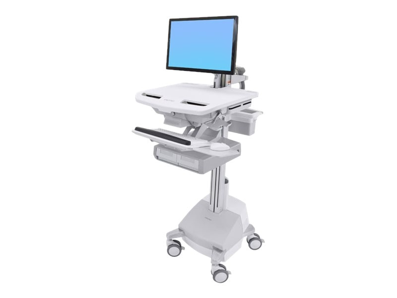 Ergotron StyleView Cart with LCD Arm, SLA Powered, 2 Drawer, SV44-12A1-1, 31498251, Computer Carts - Medical
