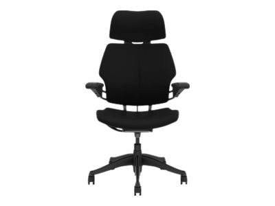 Humanscale FREEDOM, TASK CHAIR WITH HEADREST, STANDARD DURON ARMS, GRAPHITE FRAME