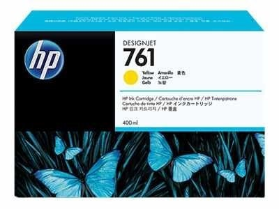 HP 761 400ml Yellow Designjet Ink Cartridge, CM992A, 12155780, Ink Cartridges & Ink Refill Kits