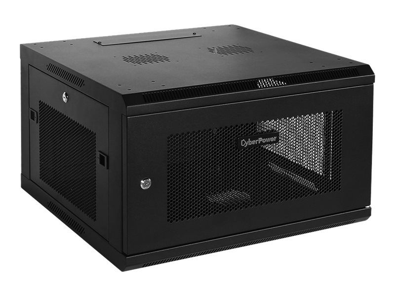CyberPower Carbon 6U Wall Mount Enclosure, Perforated Front Rear Doors
