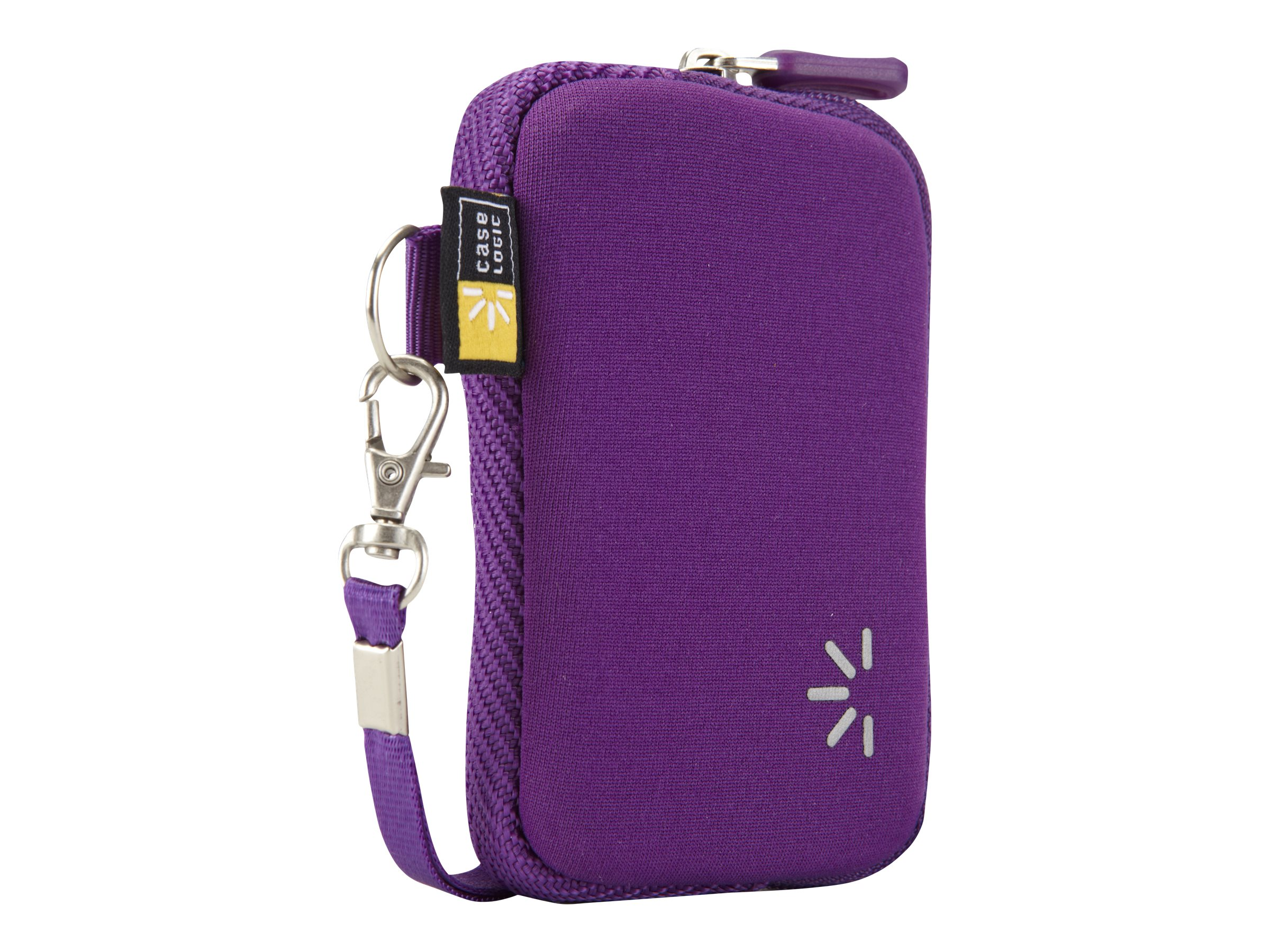 Case Logic Compact Point-and-Shoot Camera Case, Purple, UNZB-202PURPLE, 31578841, Carrying Cases - Camera/Camcorder