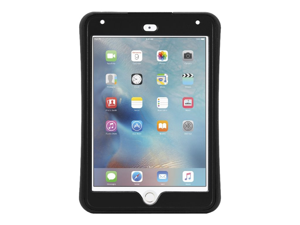 Griffin Survivor Slim Military Duty Anti-Shock Case w  Stand for iPad mini 4, Black
