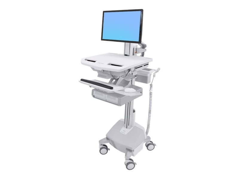 Ergotron StyleView Cart with LCD Pivot, LiFe Powered, 2 Drawers, SV44-13A2-1, 31498067, Computer Carts - Medical