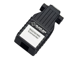 Black Box Async RS-232 to RS-485 Interface Converter, DB9 Female to RJ-45, IC624A-F, 17693472, Adapters & Port Converters