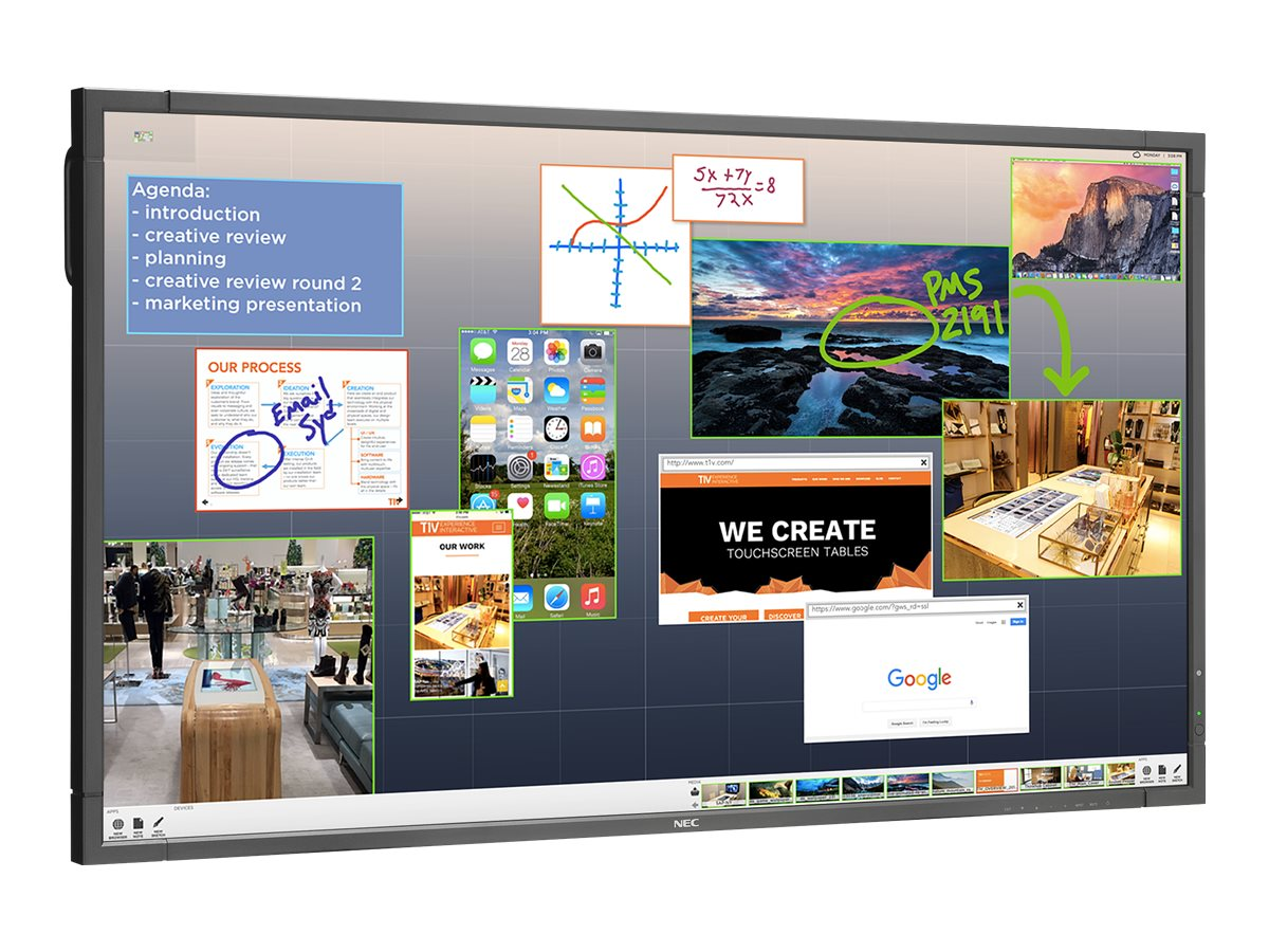 NEC 80 ThinkHub Limited Touchscreen Display Bundle, E805-THL