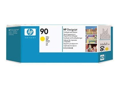 HP 90 Yellow Printhead & Cleaner for HP DesignJet 4000 4500 Series Printers, C5057A, 5718556, Ink Cartridges & Ink Refill Kits
