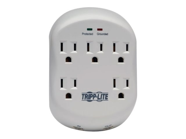 Tripp Lite Protect It! Surge Suppressor (5) Outlet, Direct Plug-in, 1080 Joules, 1-line RJ-11 Protection, SK5TEL-0