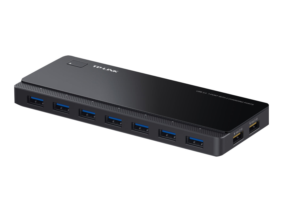 TP-LINK 7-Port USB 3.0 Hub 2 Power, 12V 4A Power Adapter Included, UH720