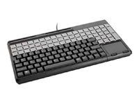 Cherry SPOS 123-Key USB Black 14 Keyboard 3-Track MSR Touchpad 123-Prog 60-Rel