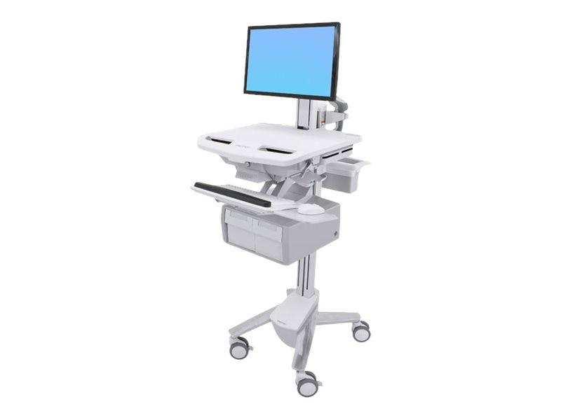 Ergotron StyleView Cart with LCD Pivot, 2 Tall Drawers, SV43-13C0-0