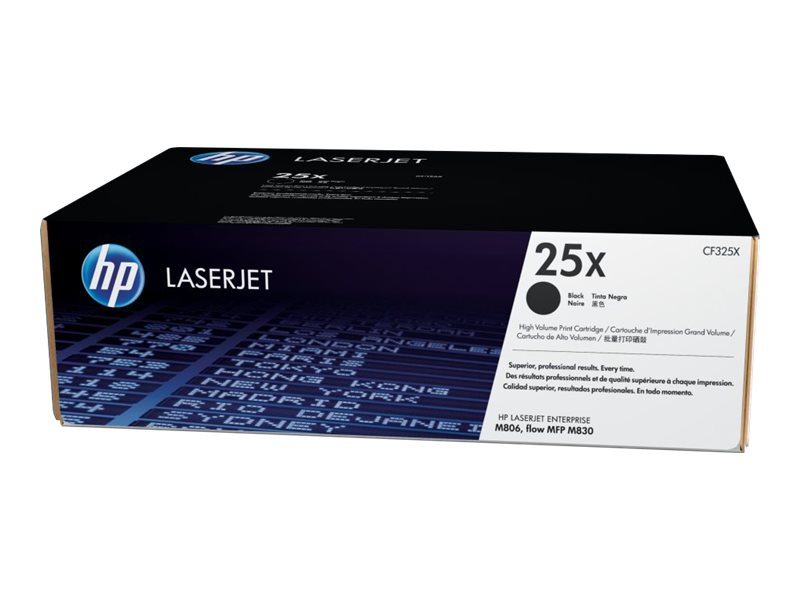 HP 25X (CF325X) High Yield Black Original LaserJet Toner Cartridge, CF325X, 16156712, Toner and Imaging Components