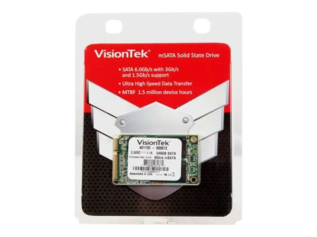 VisionTek 240GB mSATA 6Gb s Async MLC Internal Solid State Drive, 900612, 16311823, Solid State Drives - Internal