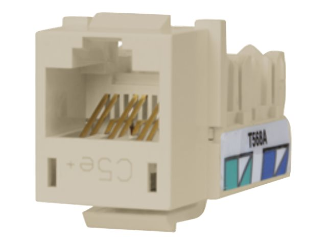 Hubbell SPEEDGAIN Xcelerator category 5E jacks, Office White, 25-pack, HXJ5EOW25, 346943, Premise Wiring Equipment