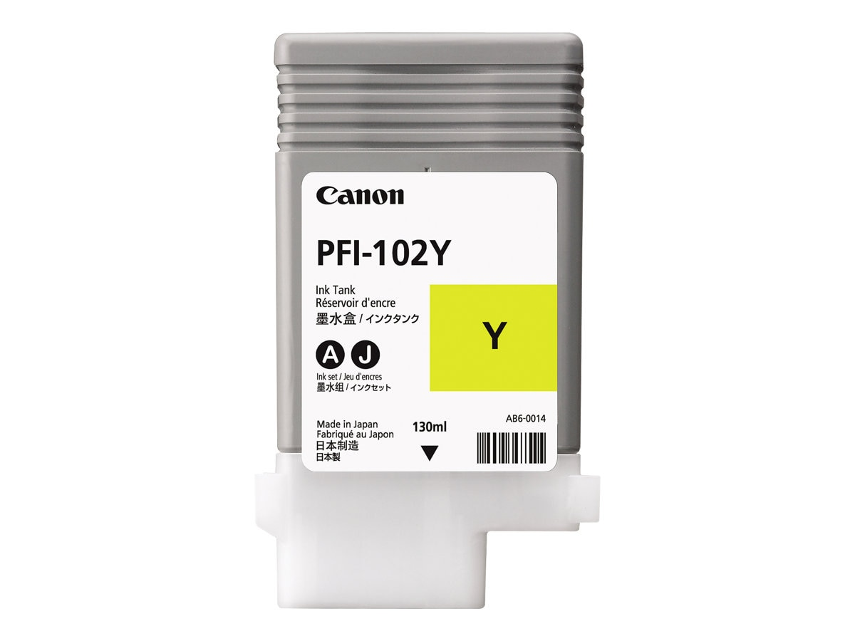 Canon Yellow PFI-102Y Ink Tank for imagePrograf 500, 600 & 700, 0898B001AA