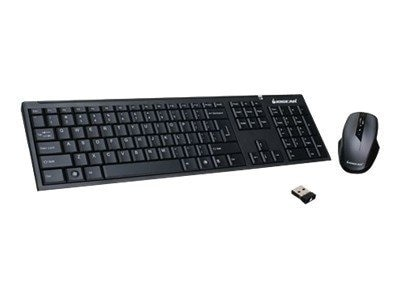 IOGEAR Long Range 2.4GHz Wireless Keyboard with Ergonomic 5-Button Mouse, EXCLUSIVE Buy - Save $2
