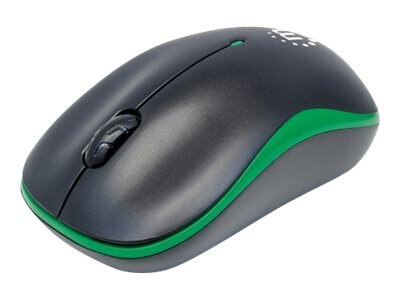 Manhattan USB Success Wireless Optical Mouse, 3 Buttons, Green Black