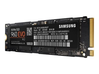 Samsung 500GB 960 EVO PCIe NVMe M.2 Internal Solid State Drive