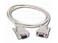 C2G Serial Extension Cable, DB9 (M-F), Beige, 6ft