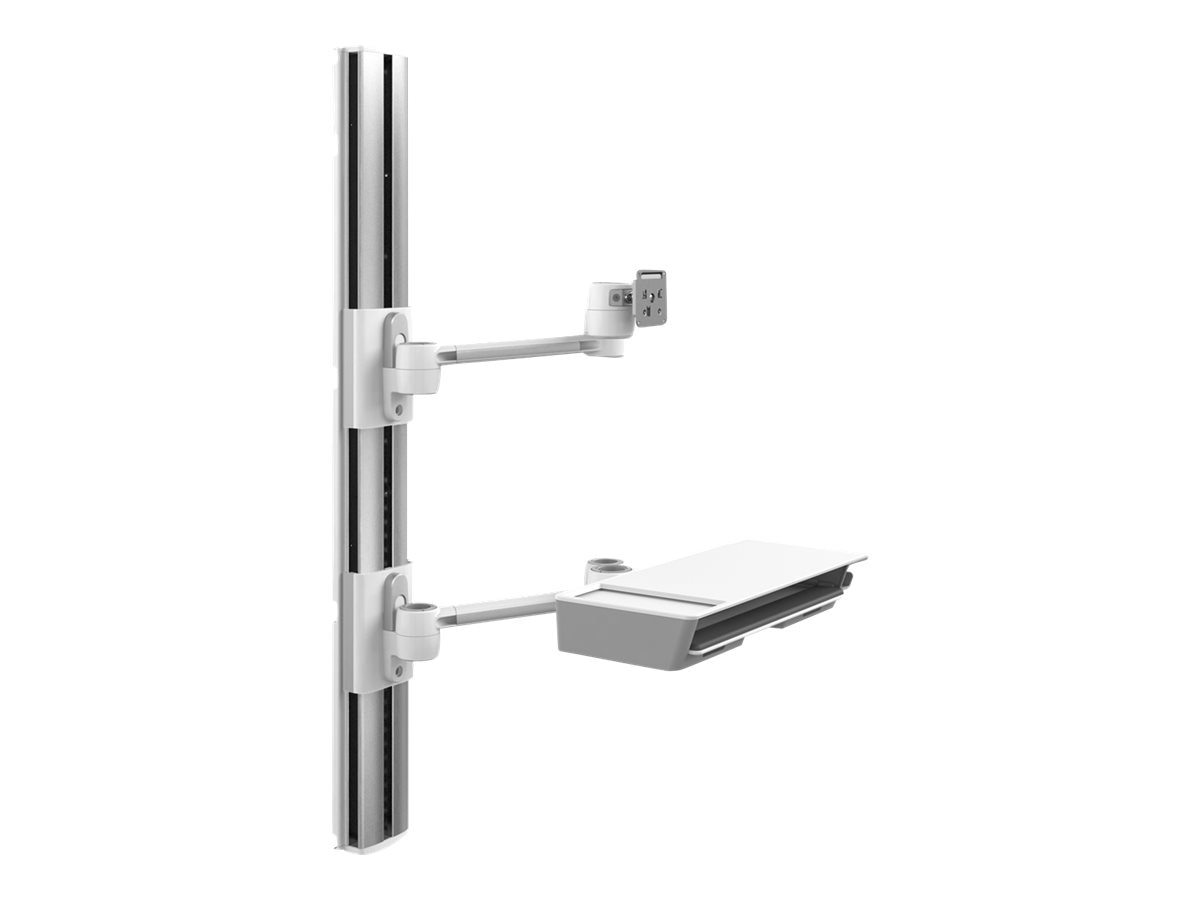 Humanscale V7 Wall Station, 56 Track, Dual Link Monitor Arm, V756-2222-20032, 30966949, Wall Stations