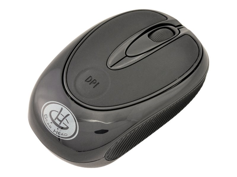 Gear Head 2.4GHz Wireless Optical Mobile Mouse, Black, MP2375BLK