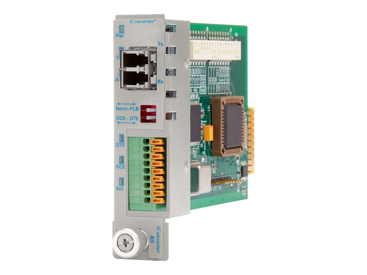 Omnitron iConverter RS422 485 Terminal LC SM Fiber 1310NM 60KM Module, 8787T-2, 14978430, Network Transceivers