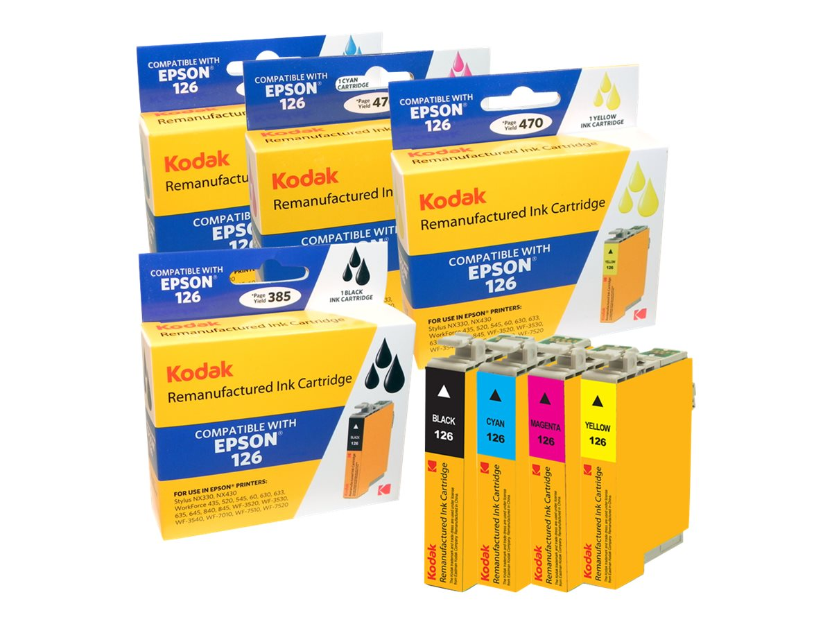 Kodak T127120-BCS Ink Cartridge Combo Pack for Epson Stylus NX330, T127120-BCS-KD