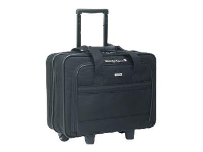 SOLO Rolling Laptop Case, Poly, 16 x 6.5 x 15, Black