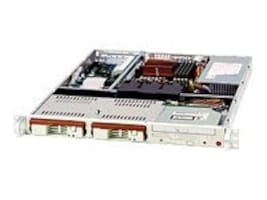 Supermicro Chassis, 1U Rackmount, Pentium D, 2x3.5 IDE, ATX, CD-ROM, 300W PS, Black, CSE-811I-300B, 8815888, Cases - Systems/Servers