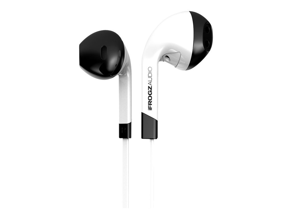 Ifrogz Intone Earbud w  Mic  - White, IF-ITN-WHT, 16723588, Headsets (w/ microphone)
