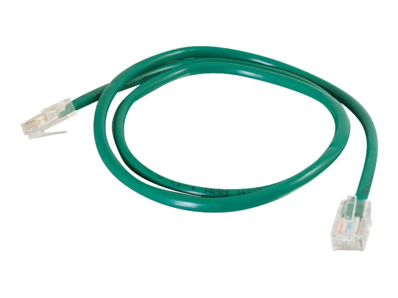 C2G Cat5e Non-Booted Unshielded (UTP) Network Patch Cable - Green, 1ft, 25070, 5865804, Cables