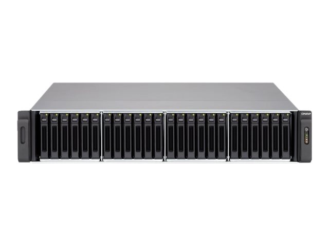 Qnap 24-Bay 2.5 iSCSI 2U SAS SATA 6Gb s 4LAN 10G-Ready NAS w  Redundant Power Supply