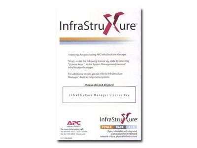 APC InfraStruXure Manager 1000-Node License Only, AP9433, 6547947, Software - Network Management